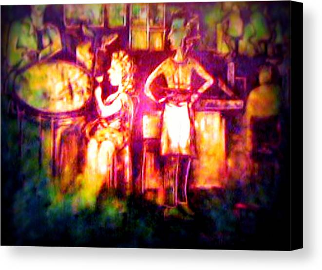 Pub Art Canvas Print featuring the digital art Closing Time At The Sly Grog Club by J Kamaru
