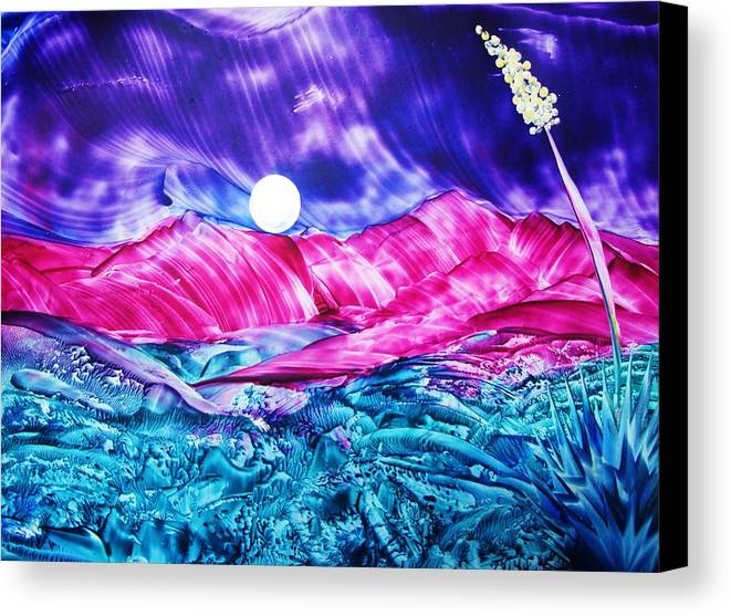 Bold Canvas Print featuring the print Colorful Desert by Melinda Etzold