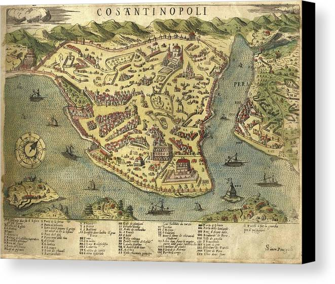 Constantinople - Old Cartographic Maps - Antique Map Of ...