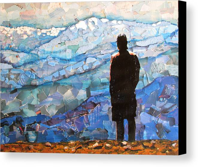 Mountain Veiw Canvas Print featuring the mixed media Consumer View by Alicia LaRue