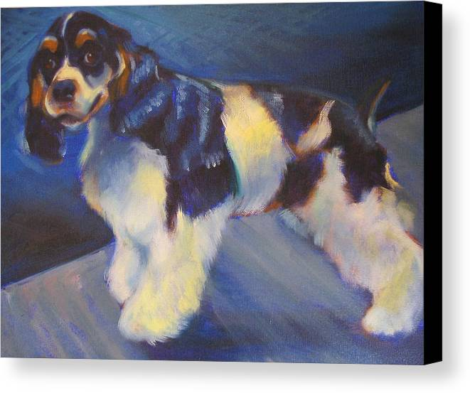 Canvas Print featuring the painting Cooper by Kaytee Esser