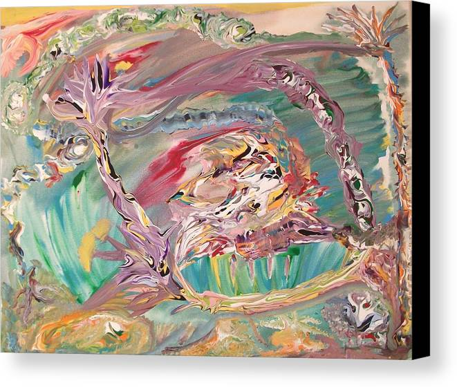 Abstract Canvas Print featuring the painting Disgruntled by Levi Porter