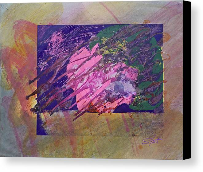 Psycho Canvas Print featuring the mixed media Disolving Psycho by Charles Stuart