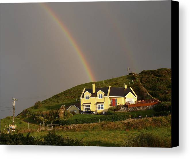 Travel Canvas Print featuring the photograph End Of The Rainbow by Mike McGlothlen
