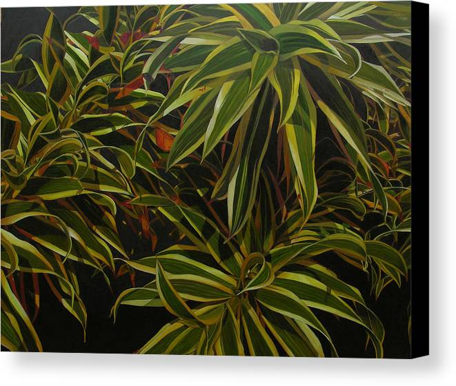 Leaves Canvas Print featuring the painting First In Cabot by Thu Nguyen