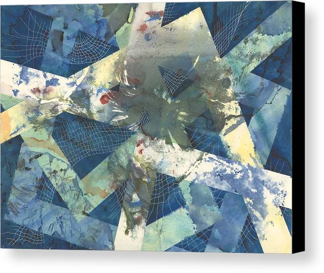 Abstract Canvas Print featuring the painting Flowers Lost In Angles by Beena Samuel
