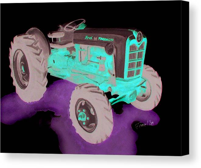 Ford Tractor Canvas Print featuring the painting Ford Tractor by Ferrel Cordle