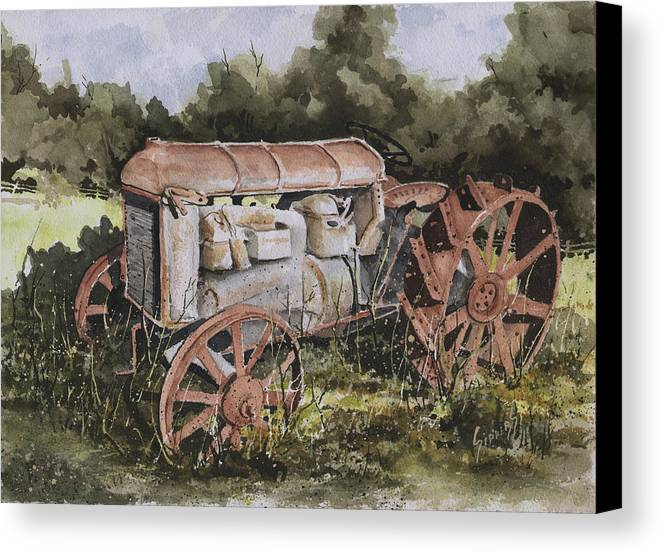 Farm Canvas Print featuring the painting Fordson Model F by Sam Sidders