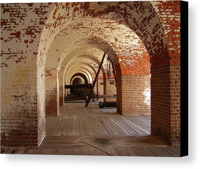 Fort Pulaski Canvas Print featuring the photograph Fort Pulaski II by Flavia Westerwelle