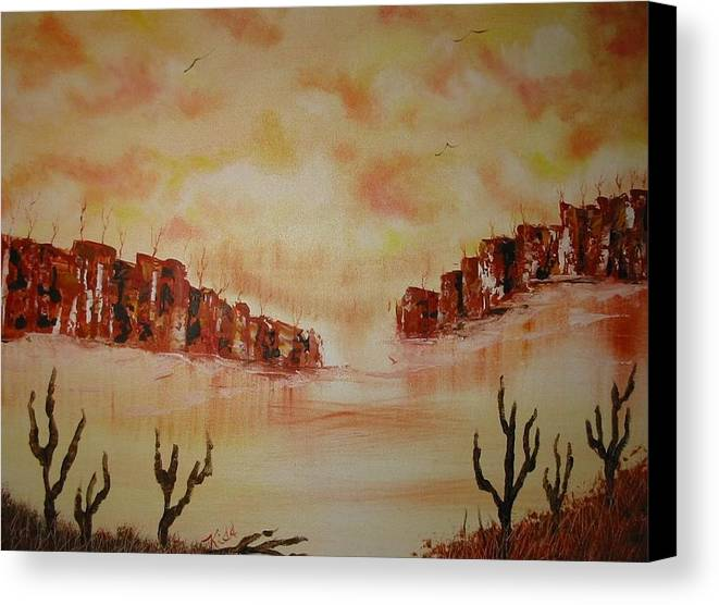 Acrylics Canvas Print featuring the painting Gateway To Eternity by Laurie Kidd