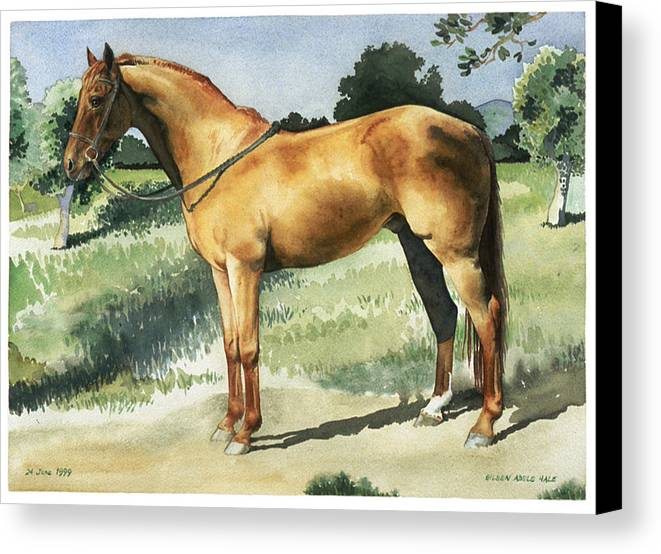 Portrait Canvas Print featuring the painting George by Eileen Hale