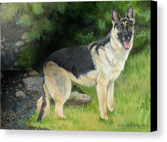 Portrait Canvas Print featuring the painting Hailey by Eileen Hale