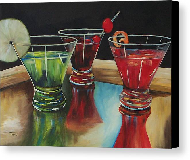 Cosmopolitan Canvas Print featuring the painting Happy Hour 2007 by Torrie Smiley
