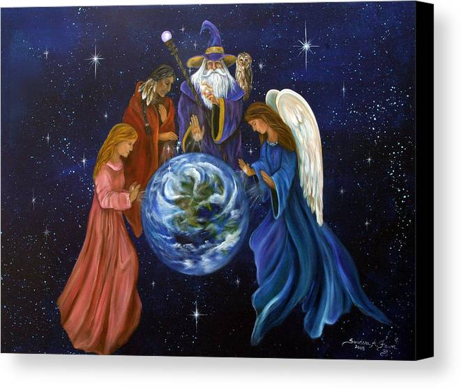 Earth Canvas Print featuring the painting Healing Mother Earth by Sundara Fawn