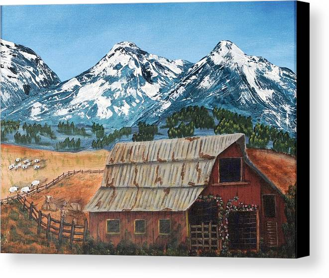 Landscape Canvas Print featuring the painting High Home by Julia Ellis