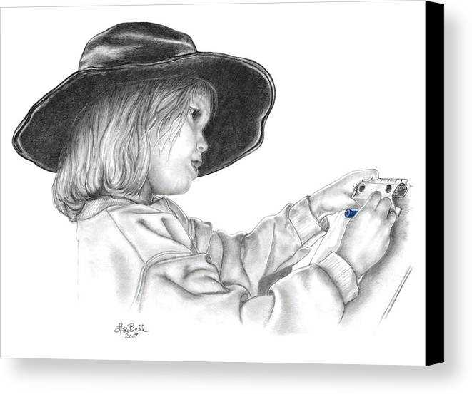 Children Canvas Print featuring the drawing Hope For The Future by Lisa Bell