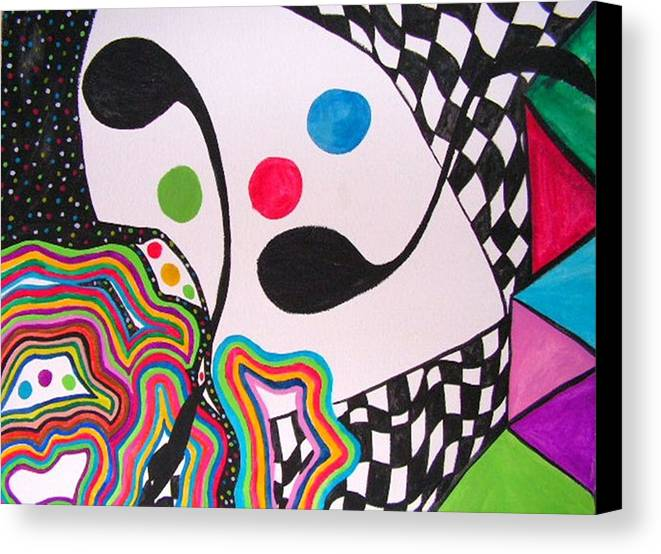 Abstract Canvas Print featuring the painting Humpty Dumpty Fell by Katina Cote