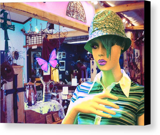 Hat Canvas Print featuring the digital art In The Shop by Sarah Crumpler