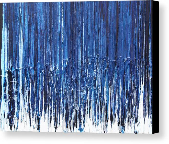 Fusionart Canvas Print featuring the painting Indigo Soul by Ralph White