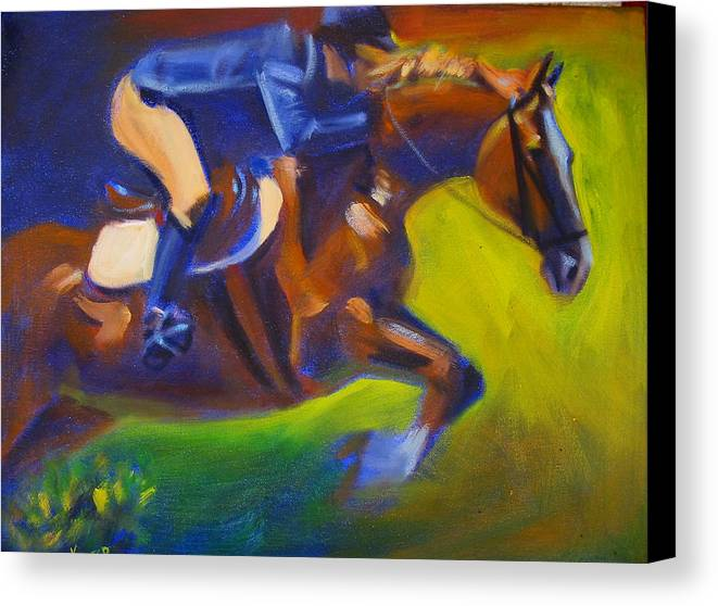 Horse Canvas Print featuring the painting Jumper 2 by Kaytee Esser