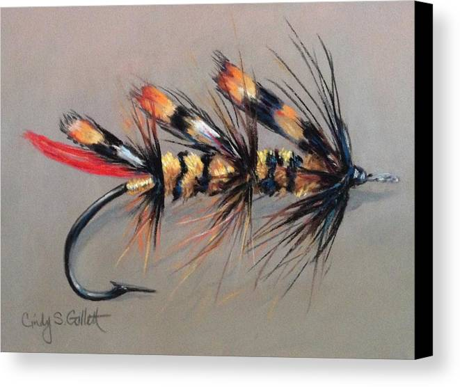 Still Life Canvas Print featuring the painting Jungle Hornet by Cindy Gillett