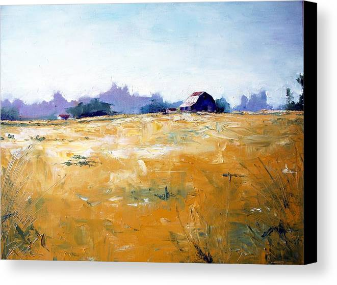Art Canvas Print featuring the painting Landscape With Barn by RB McGrath