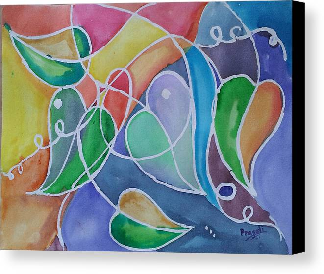 Leaves Canvas Print featuring the painting Leaves by Pragati Sinha