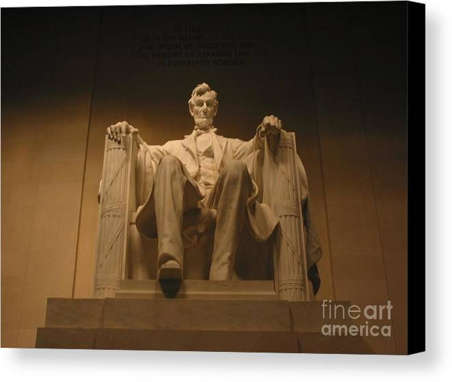 Abraham Lincoln Canvas Print featuring the photograph Lincoln Memorial by Brian McDunn