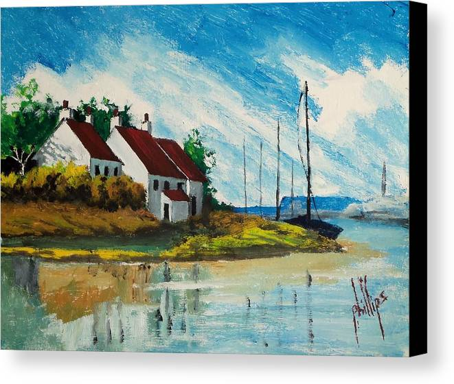 Canvas Print featuring the painting Living At The Mouth Of The White Oak River by Jim Phillips
