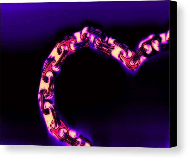 Scan Canvas Print featuring the photograph Love Glows Strong by Dolly Mohr
