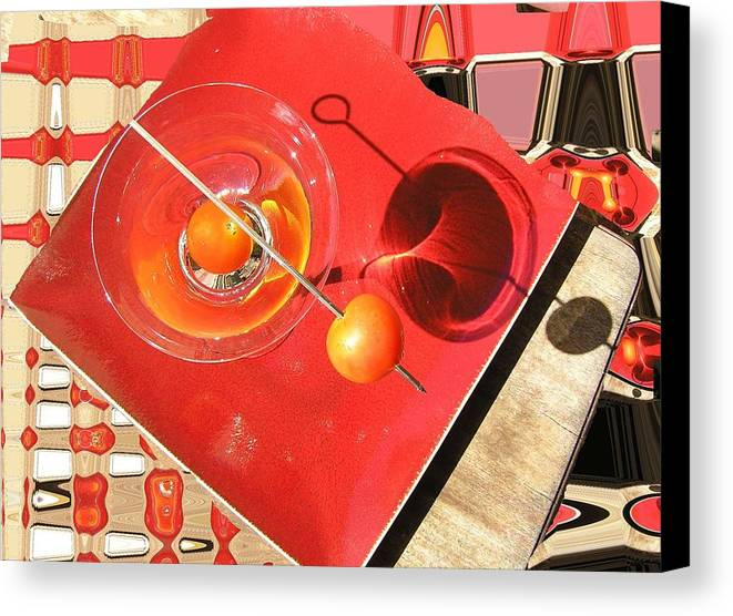 Still Life Canvas Print featuring the photograph Martini Fantazy by Evguenia Men