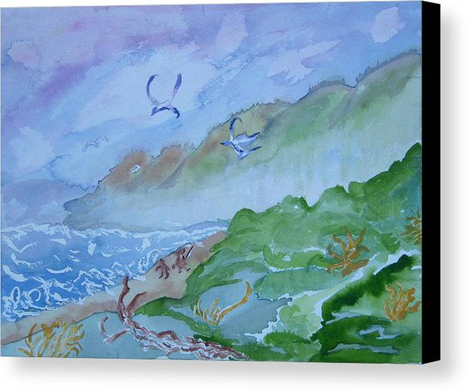 Oregon Canvas Print featuring the painting Monkeys Head Point Oregon by Margaret G Calenda