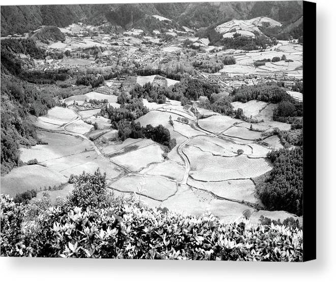 Valley Canvas Print featuring the photograph Monochrome Valley by Gaspar Avila