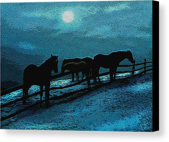 Anthem Canvas Print featuring the photograph Moonbeam by Gordon Beck