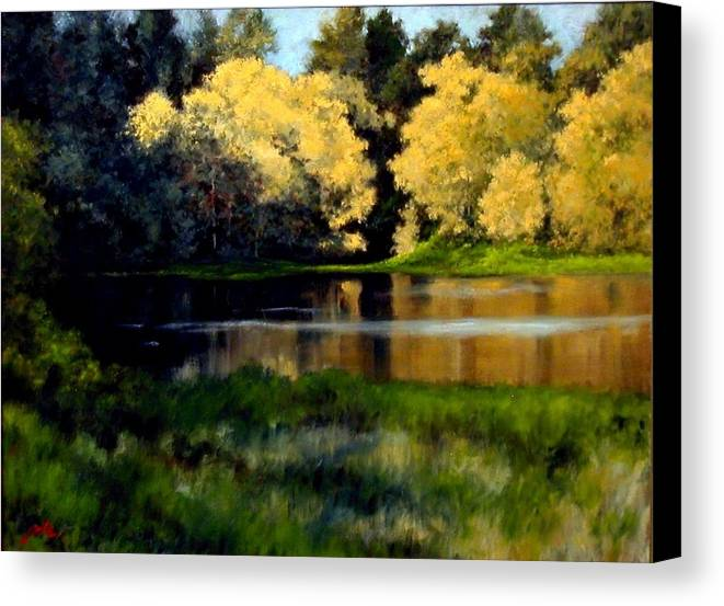 Landscape Canvas Print featuring the painting Nature Walk by Jim Gola