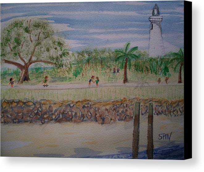 Park Canvas Print featuring the painting Neptune Park by Spencer Joyner