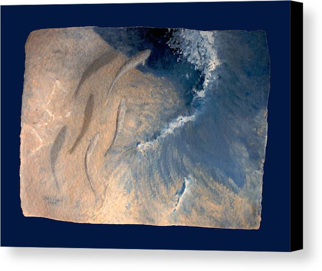 Seascape Canvas Print featuring the painting Ocean by Steve Karol