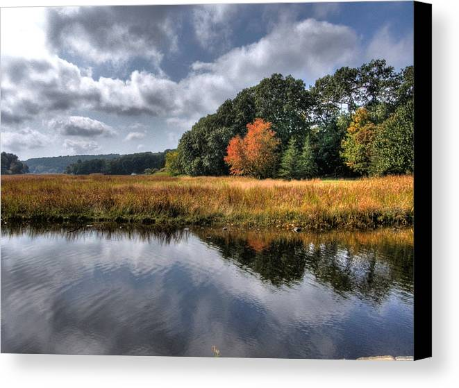 Mystic Ct Canvas Print featuring the photograph Old Mystic by Michael Edwards
