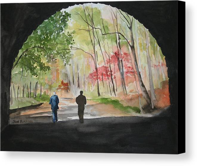 Road Canvas Print featuring the painting On The Road To Nowhere by Jean Blackmer