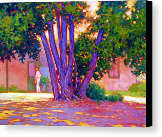 Tree Canvas Print featuring the painting Open For Business by Kevin Lawrence Leveque
