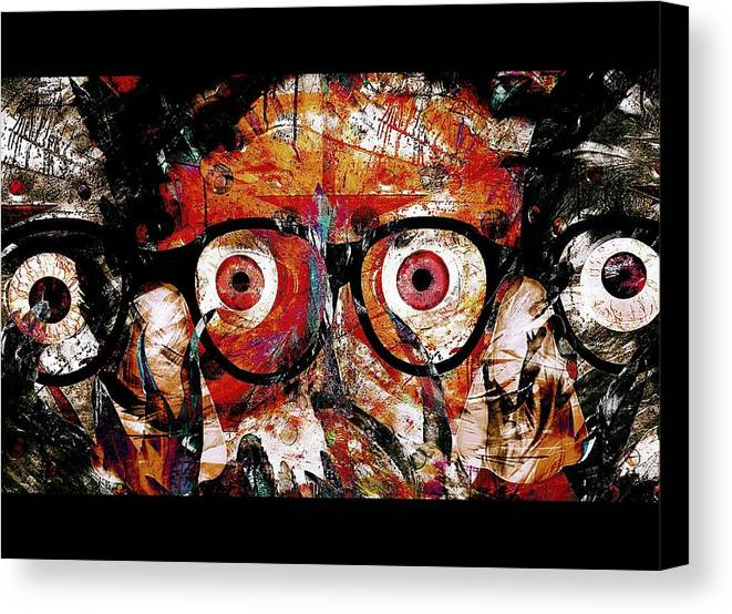 Fania Simon Canvas Print featuring the painting Open The Eyes To The Mind Frames And The Missing Link by Fania Simon