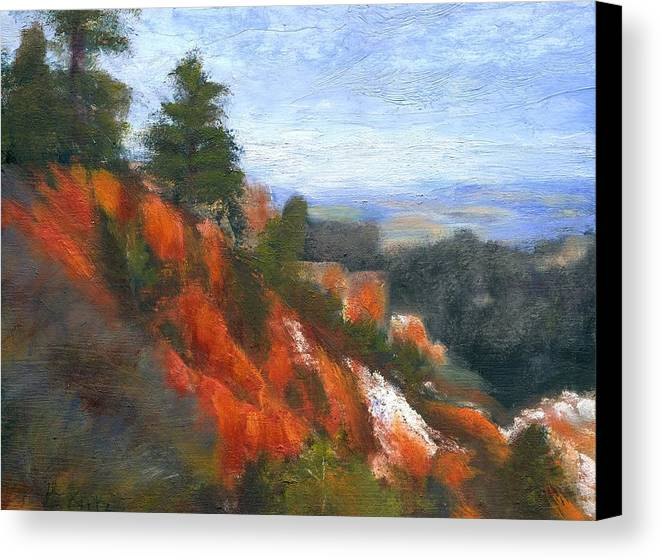 Southwest Canvas Print featuring the painting Overlook by Gail Kirtz