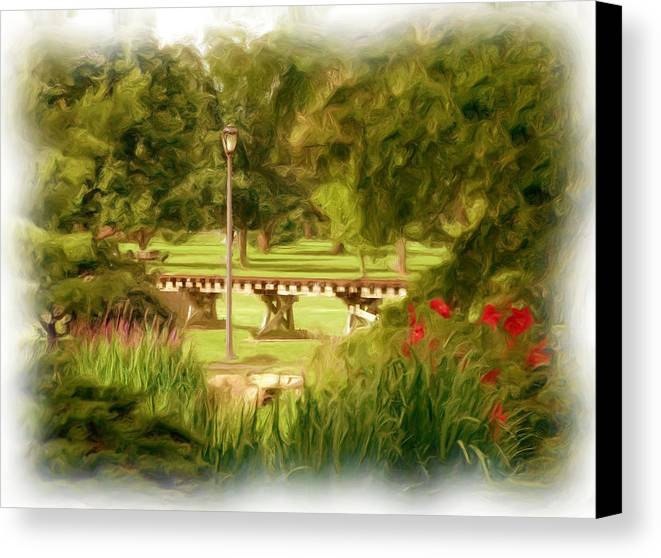 Park Canvas Print featuring the photograph Paint In The Park by Jim Darnall