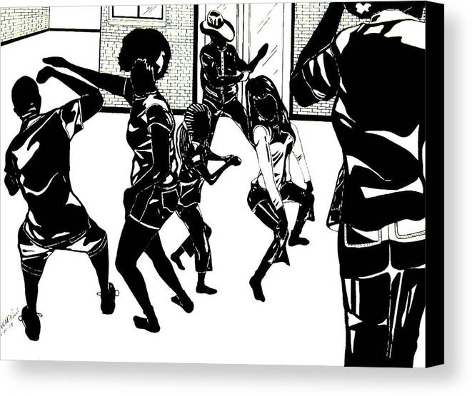Canvas Print featuring the painting Party Time by Willie McNeal
