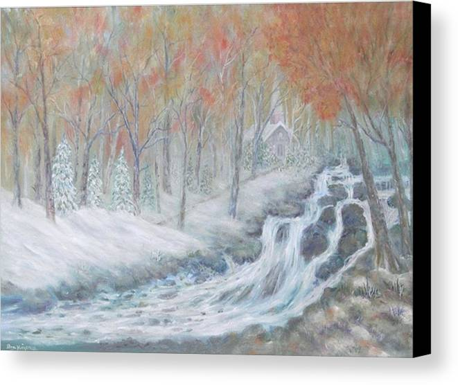 Snow; Landscape; Church Canvas Print featuring the painting Reverence by Ben Kiger