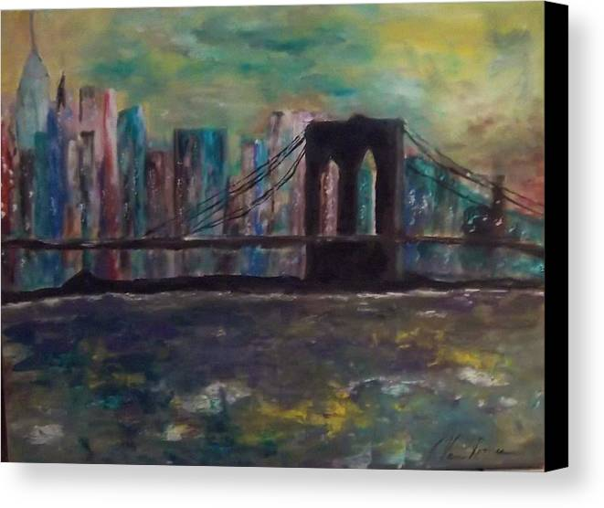 Abstract Canvas Print featuring the painting Road From Brooklyn by Jim Van Romer
