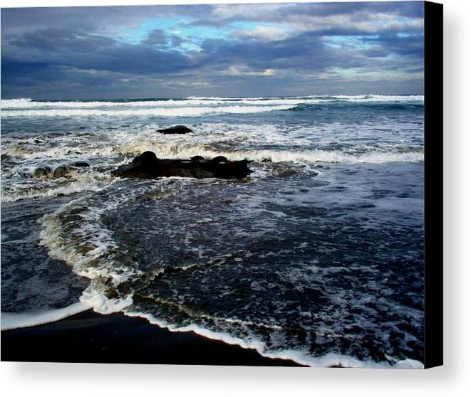 Ocean Canvas Print featuring the photograph Rough Waters by Trisha Allard