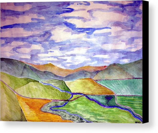 River Canvas Print featuring the painting Rural by Jame Hayes