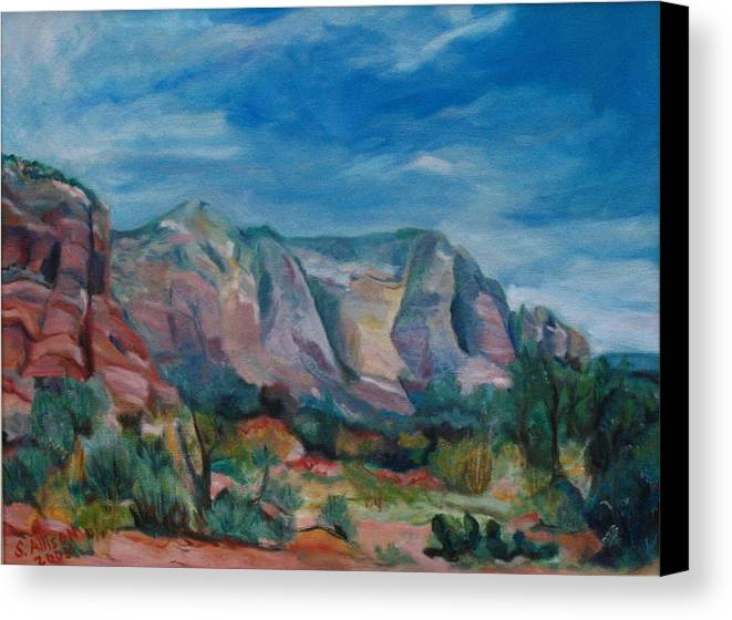 Landscape Canvas Print featuring the painting Sedona II by Stephanie Allison