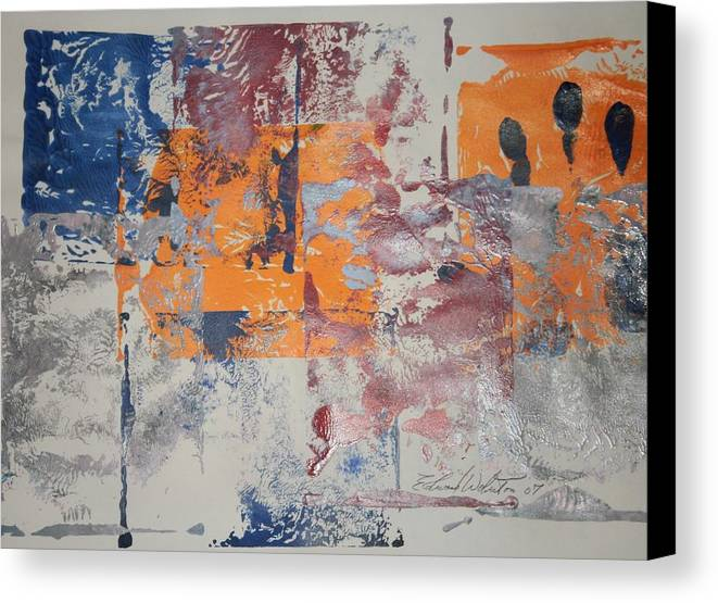 Abstract Canvas Print featuring the painting Silver Screen by Edward Wolverton